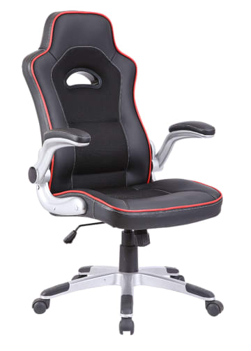 Black With Red Trim Racing Sports Style Office Computer Desk Chair