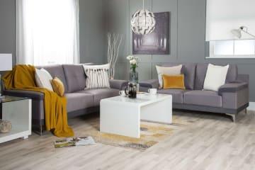 Torino Modern Grey 2/3 Seater Fabric Sofa Set