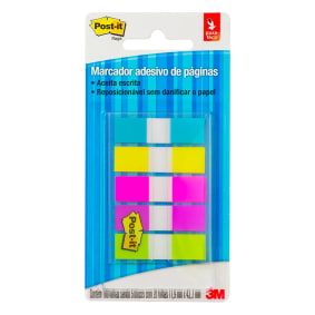 Post It Flags Transparente 5 Cores Sortidas 11,9mmx43,2mm C/100fls 683 5cf Br   3 M