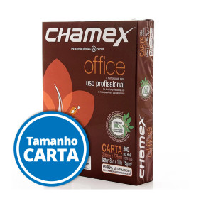 Papel Sulfite Carta Office 216 Mmx279 Mm 75 G Pct C/500 Fls    Chamex