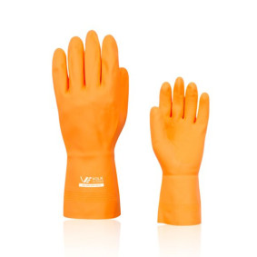 Luva Latex E Neoprene Laranja Super Reforcada M   Volk