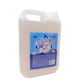 álcool Gel 70° Inpm Limpeza Geral 5 L   Ares