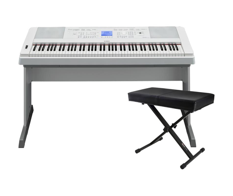 Yamaha dgx 660 88 key white digital piano bundle for Yamaha dgx 660 bundle