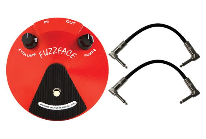 Dunlop Fuzz Face Guitar Effects Pedal JDF2 Germanium PNP 2 MXR CABLES