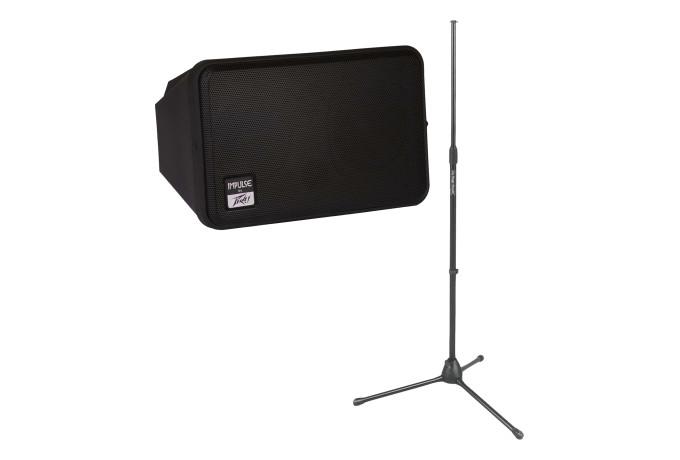 peavey impulse ii 4 5 200 watt personal monitor bundle with speaker stand ebay. Black Bedroom Furniture Sets. Home Design Ideas