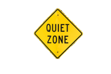 quiet zone sign