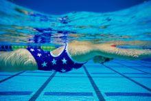 Lady enjoying a swim