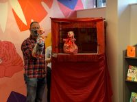 Puppet Show being performed and enjoyed by the children