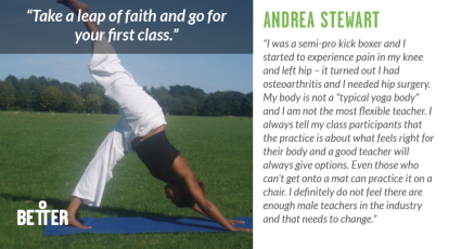 Andrea Stewart yoga teacher