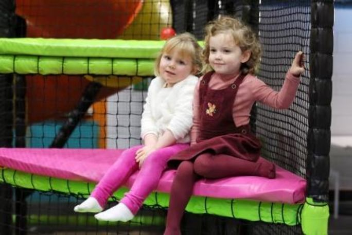 Girls in soft play