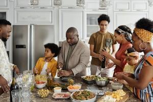 Resizefamily preparing food in the kitchen 4261791