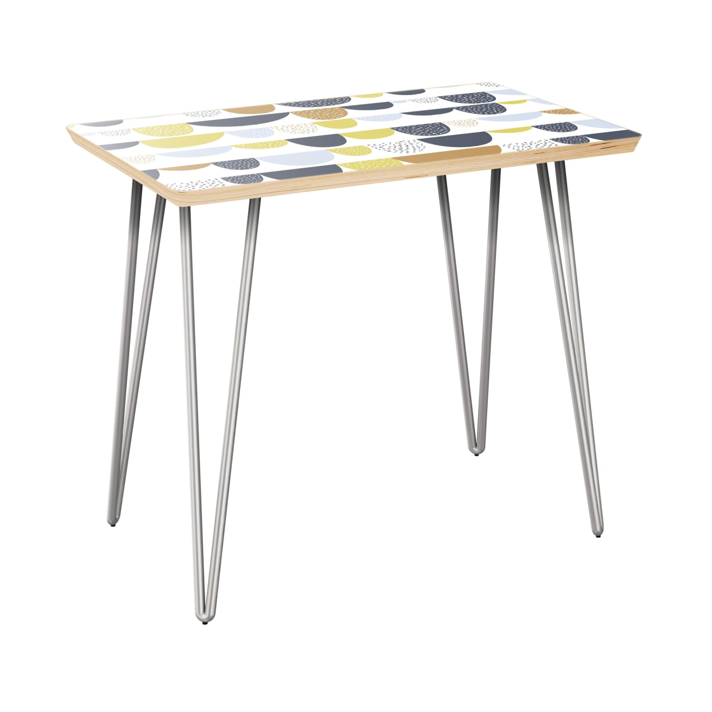 Side Table With Chrome Base Nyk 12007632