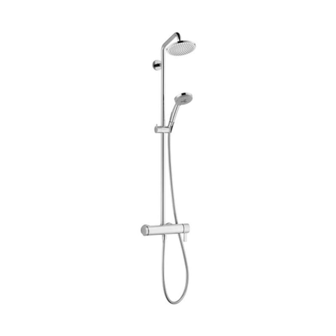 Hansgrohe Shower System 04530820 Brushed Nickel - Goedekers.com