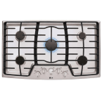 "LG 36"" Stainless Steel Gas Sealed Burner Cooktop"