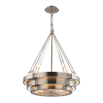 Elk Chronology 8 Light Chandelier In Brushed Stainless With Polished Nickel Accents