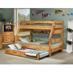 Chelsea Home Cinnamon Twin Over Full Bunk Bed with Trundle Unit