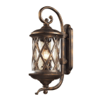 Elk Barrington Gate Hazlenut Bronze 3-Light Outdoor Sconce