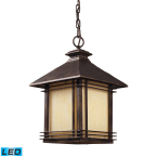 Elk Blackwell Hazlenut Bronze 1-Light Outdoor Pendant - LED