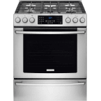 "Electrolux IQ-Touch 30"" Stainless Steel Gas Slide-In Sealed Burner Range - Convection"