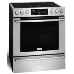"Electrolux IQ-Touch 30"" Stainless Steel Electric Slide-In Smoothtop Range - Convection"