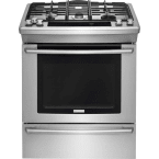 """Electrolux Wave-Touch 30"""" Stainless Steel Gas Slide-In Sealed Burner Range - Convection"""