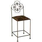 "Grace Collection Antique Bronze 24"" Florentine Counter Stool"