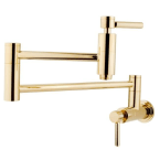 Kingston Brass Concord Polished Brass Wall Mount Pot Filler