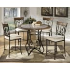 Signature Design by Ashley Hopstand Brown 5 Piece Dining Room Counter Table Set