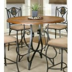 Sunset Trading Vail Espresso Counter Height Dining Table with Distressed Rustic Medium Oak Top