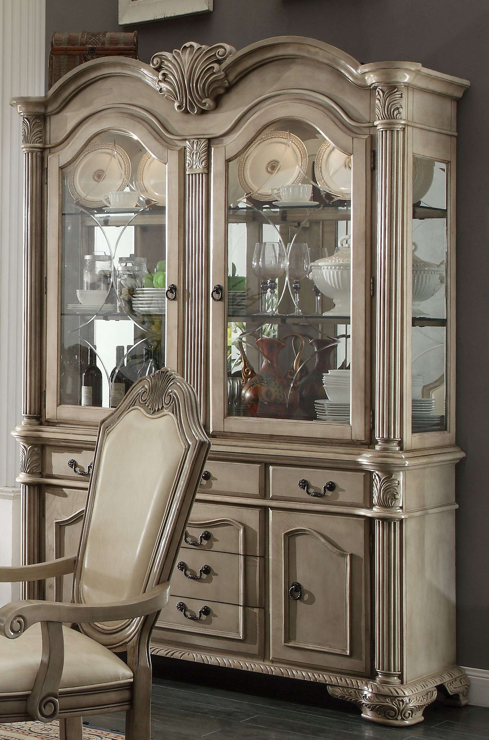 hutch by china pin cabinet room white antique storage country buffet display mckay