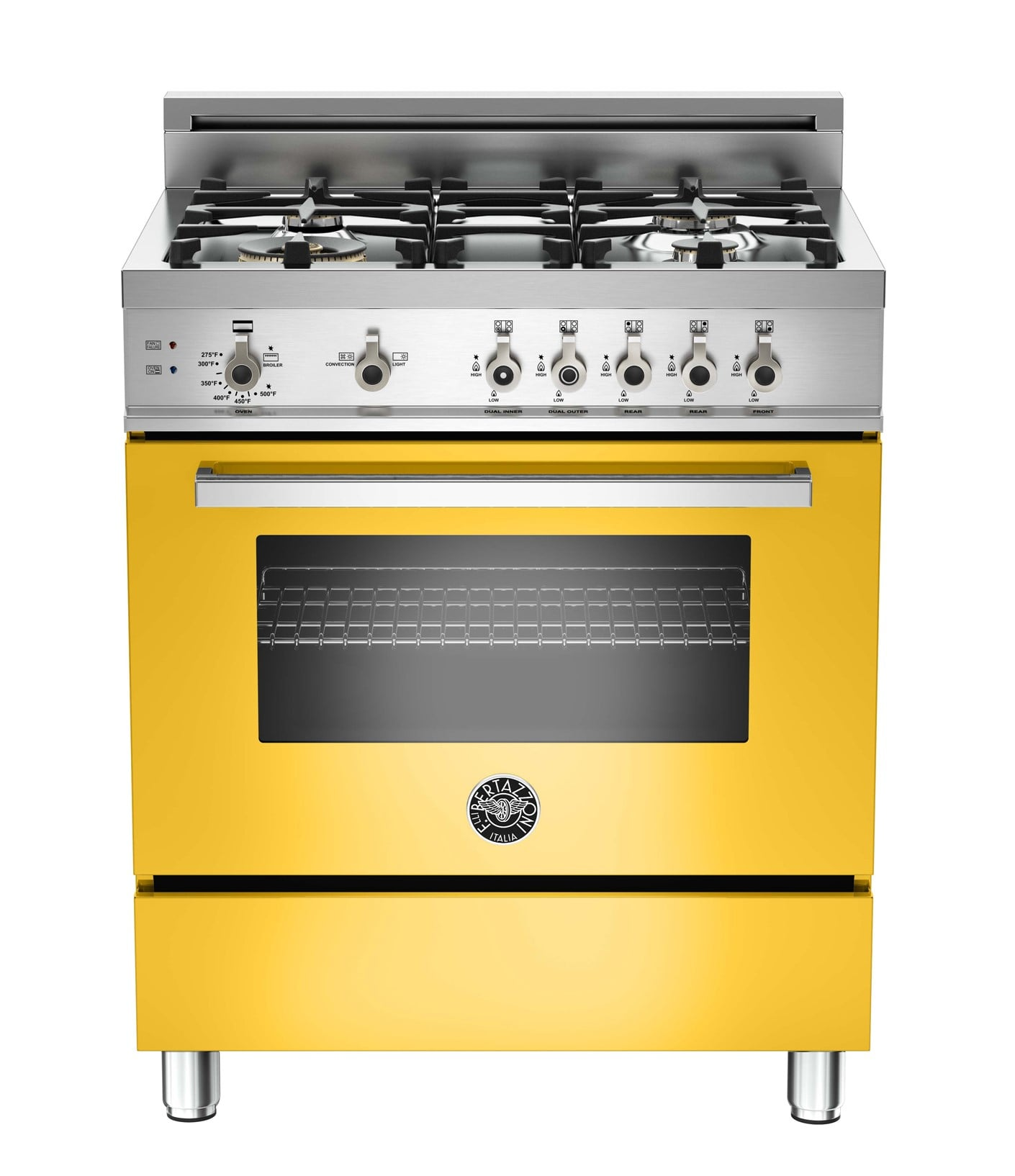 "Professional 30"" Orange Gas Sealed Burner Range - Convection"