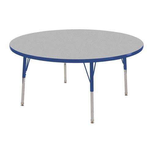 """36"""" Round Table Gray and Blue-Toddler Swivel"""