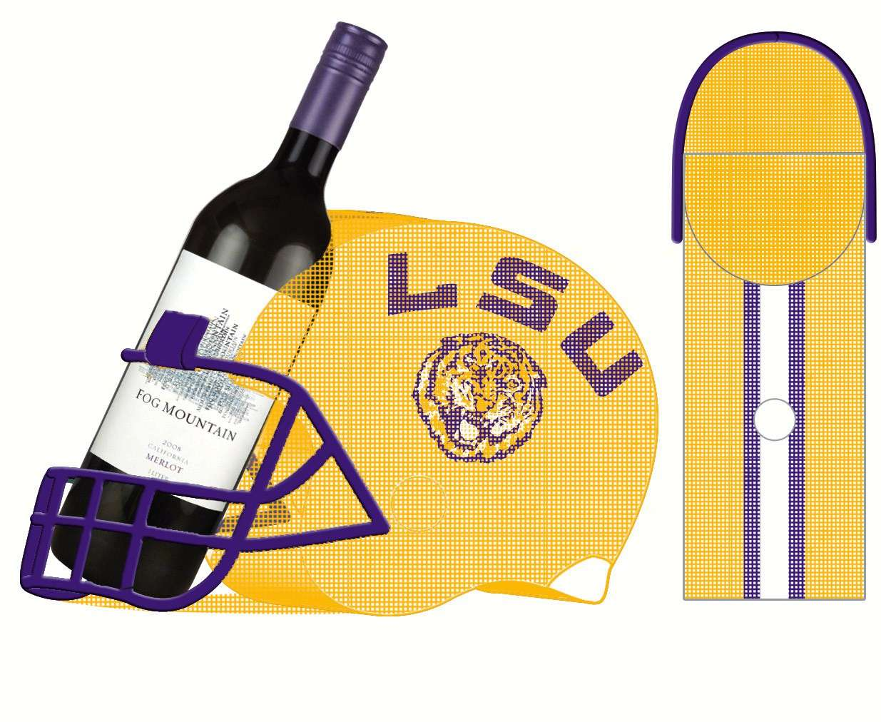 LSU Cork and Wine Bottle Holder - Quantity 1