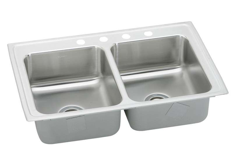 Gourmet Drop In Steel Kitchen Sink LRQ33213 Stainless Steel (with 3 Faucet Holes)