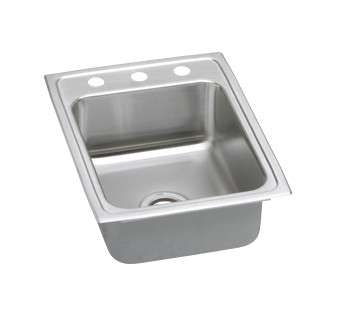 Gourmet Drop In/Self Rimming Steel Kitchen Sink PSRQ17223 Stainless Steel (with 3 Faucet Holes)