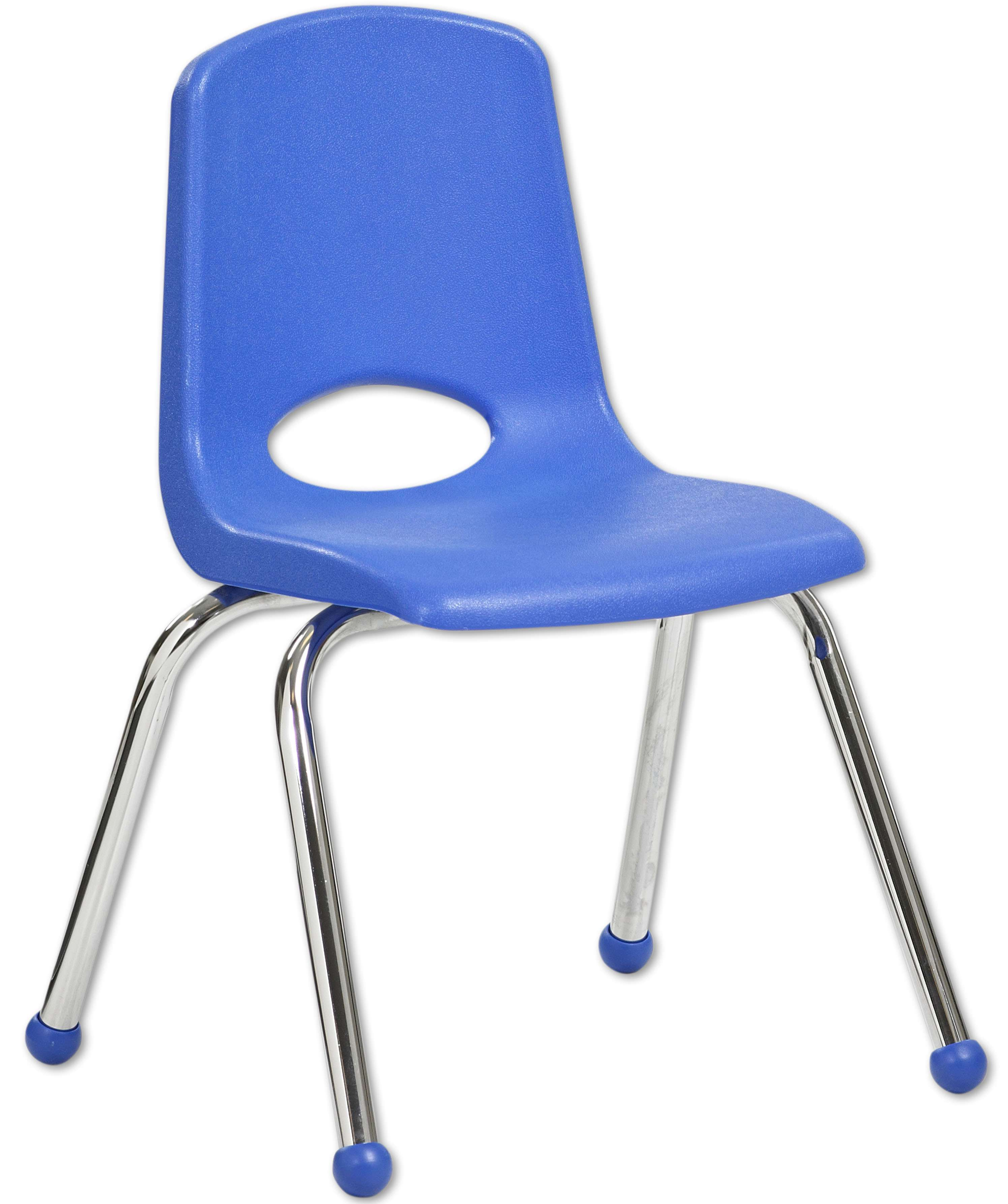 """14"""" Stacking Chairs with Swivel Guides - Set of 6"""