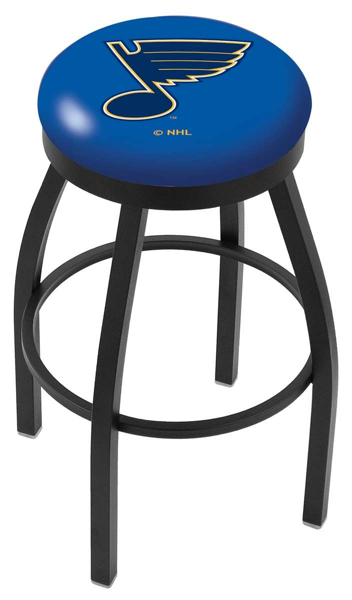 """25"""" Black Wrinkle St Louis Blues Swivel Bar Stool with Accent Ring"""