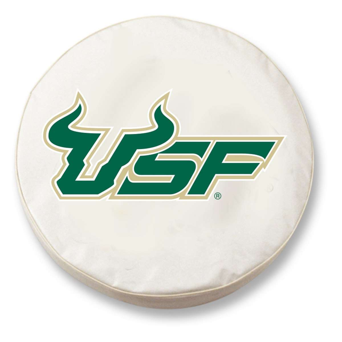 "30.75"" x 10"" White University of South Florida Vinyl Tire Cover"