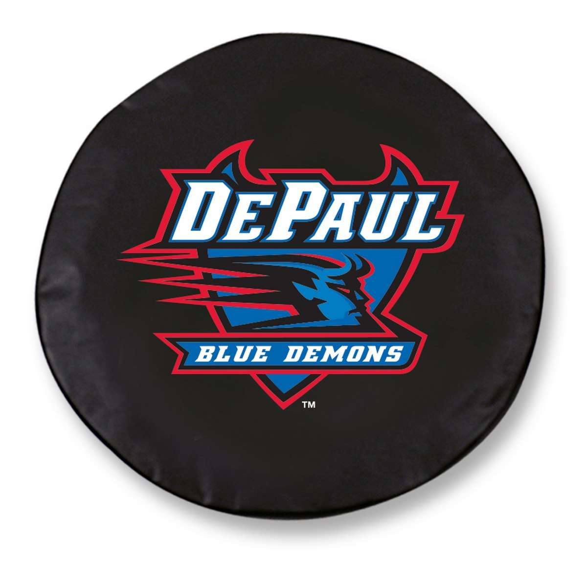 "27"" x 8"" Black DePaul University Vinyl Tire Cover"