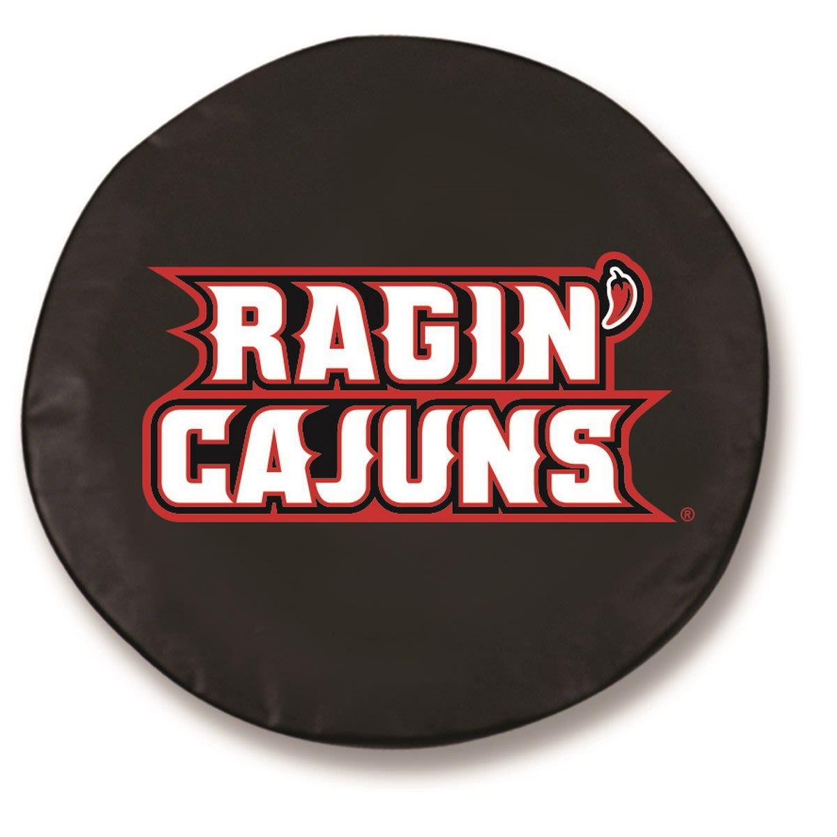 "25.5"" x 8"" Black University of Louisiana at Lafayette Vinyl Tire Cover"