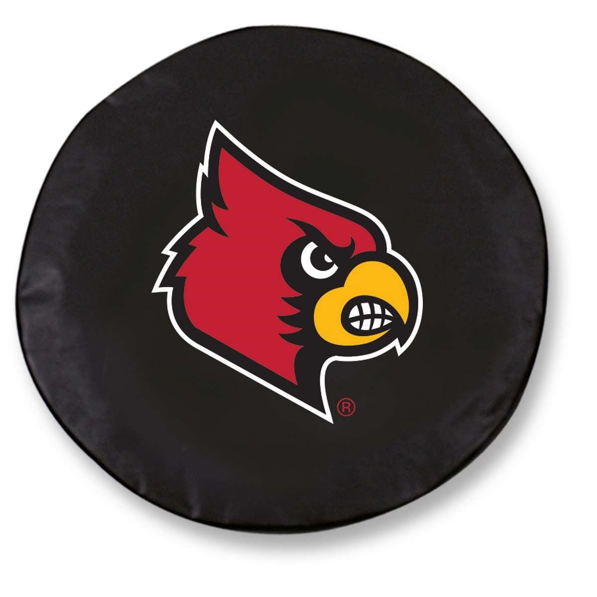 "24"" x 8"" Black University of Louisville Vinyl Tire Cover"