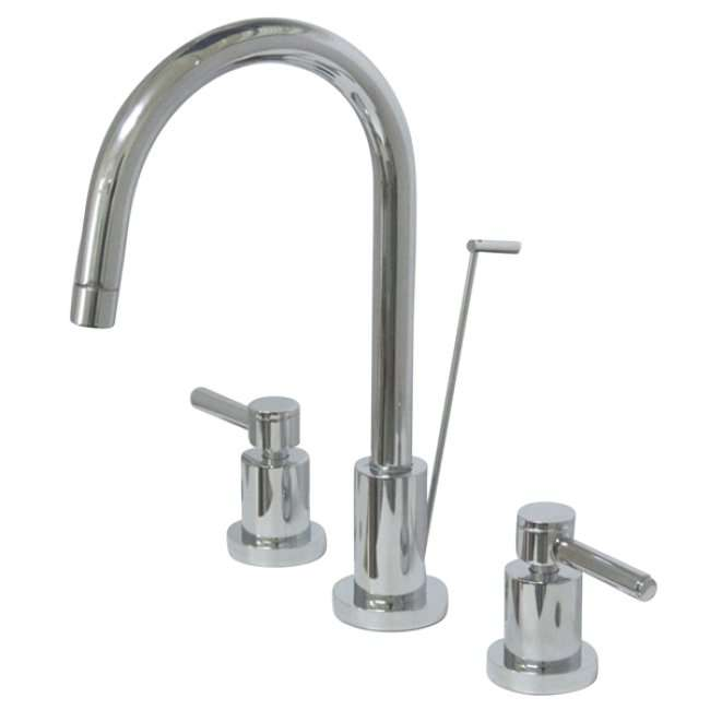 Concord Chrome Two-Handle Mini Widespread Lavatory Faucet with Brass Pop-Up