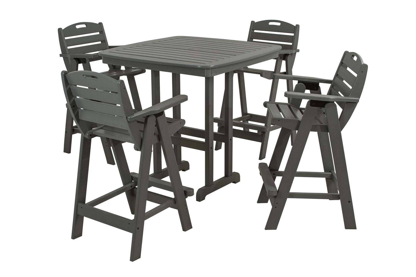 Nautical Slate Gray 5 Piece Bar Set