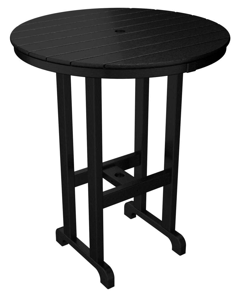 "Black 36"" Outdoor Round Bar Table"