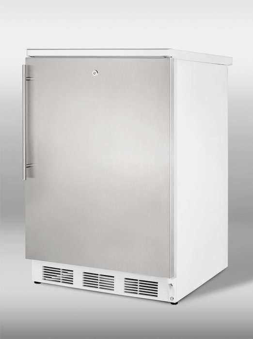 """24"""" 5.5 cu. ft. Stainless Steel Compact Refrigerator"""