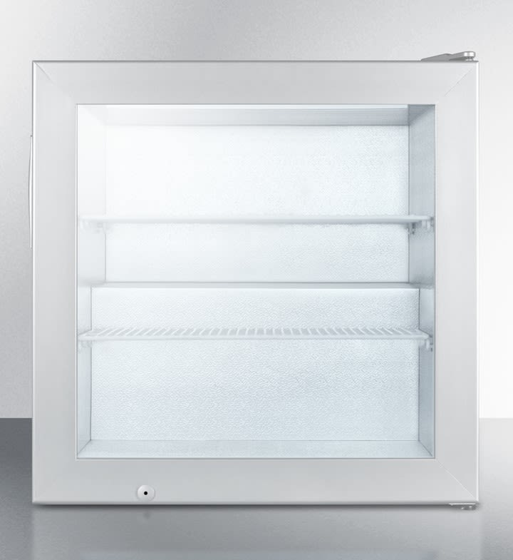"""Commercial Series 24"""" 3.0 cu. ft. Gray Undercounter Upright Freezer"""