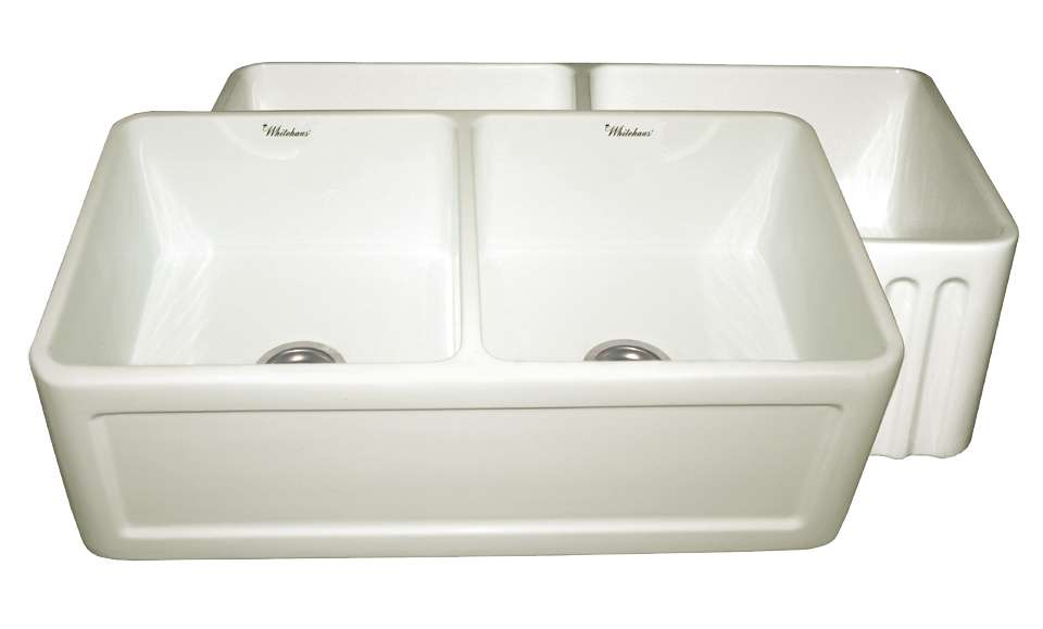 Athinahaus Series Biscuit Fireclay Reversible Farm Kitchen Sink