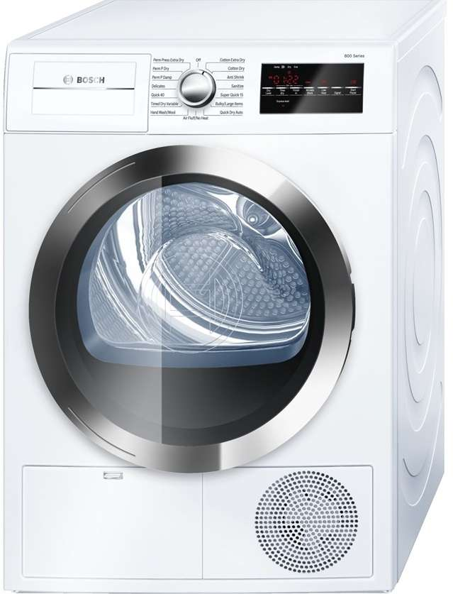800 Series 4.0 cu. ft. White Stackable Electric Dryer - Energy Star