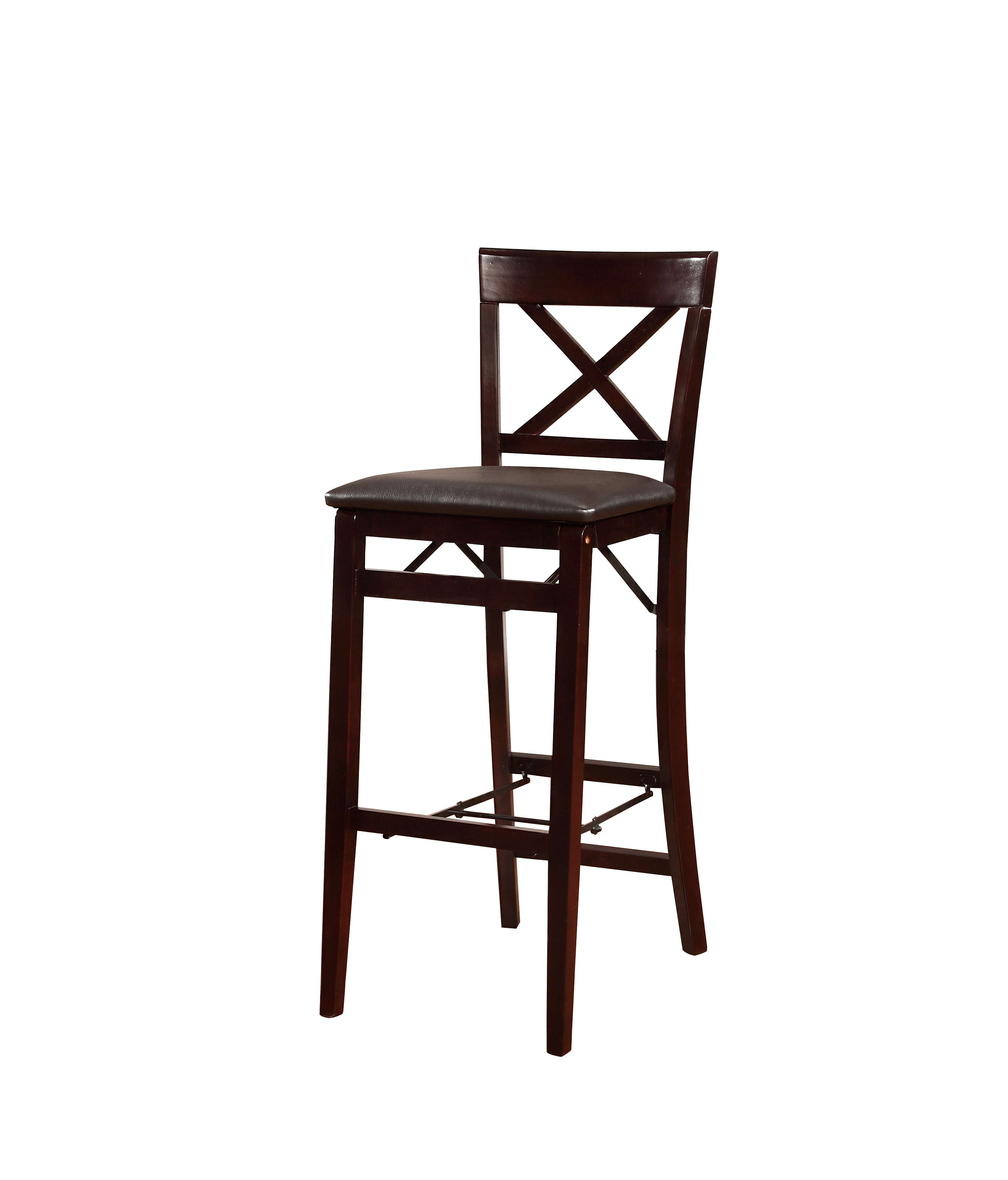 Linon Home Decor Products Inc Triena Brown Pu Bar Stool