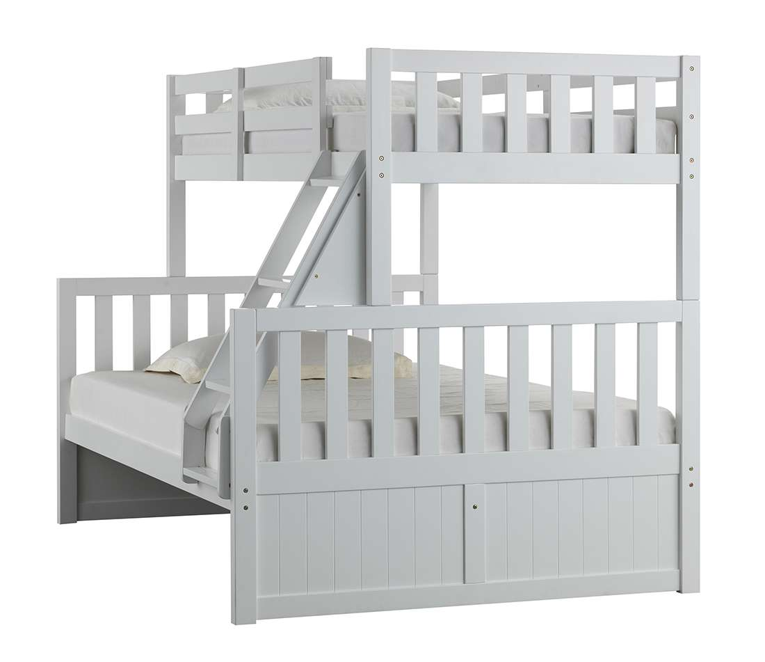 Mission Hills White Twin/Full Bunk Bed With Storage